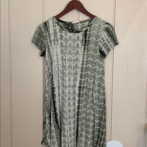 PINC Super soft tie dye green dress cover-up m